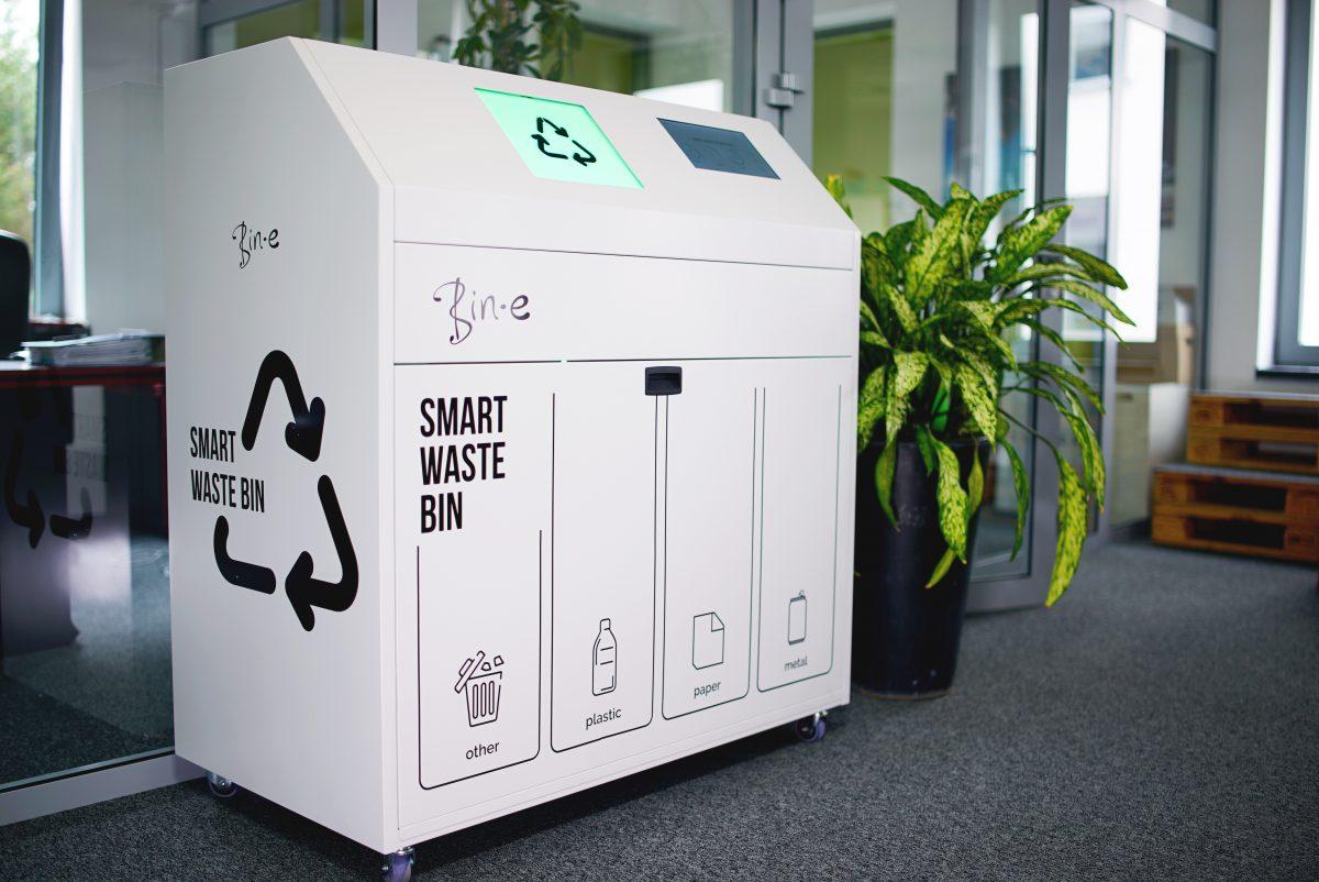 Bin-e: slimme afvalmachine