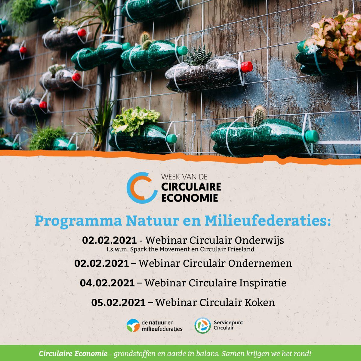 Programma Natuur en Milieufederaties tijdens de week van de circulaire economie