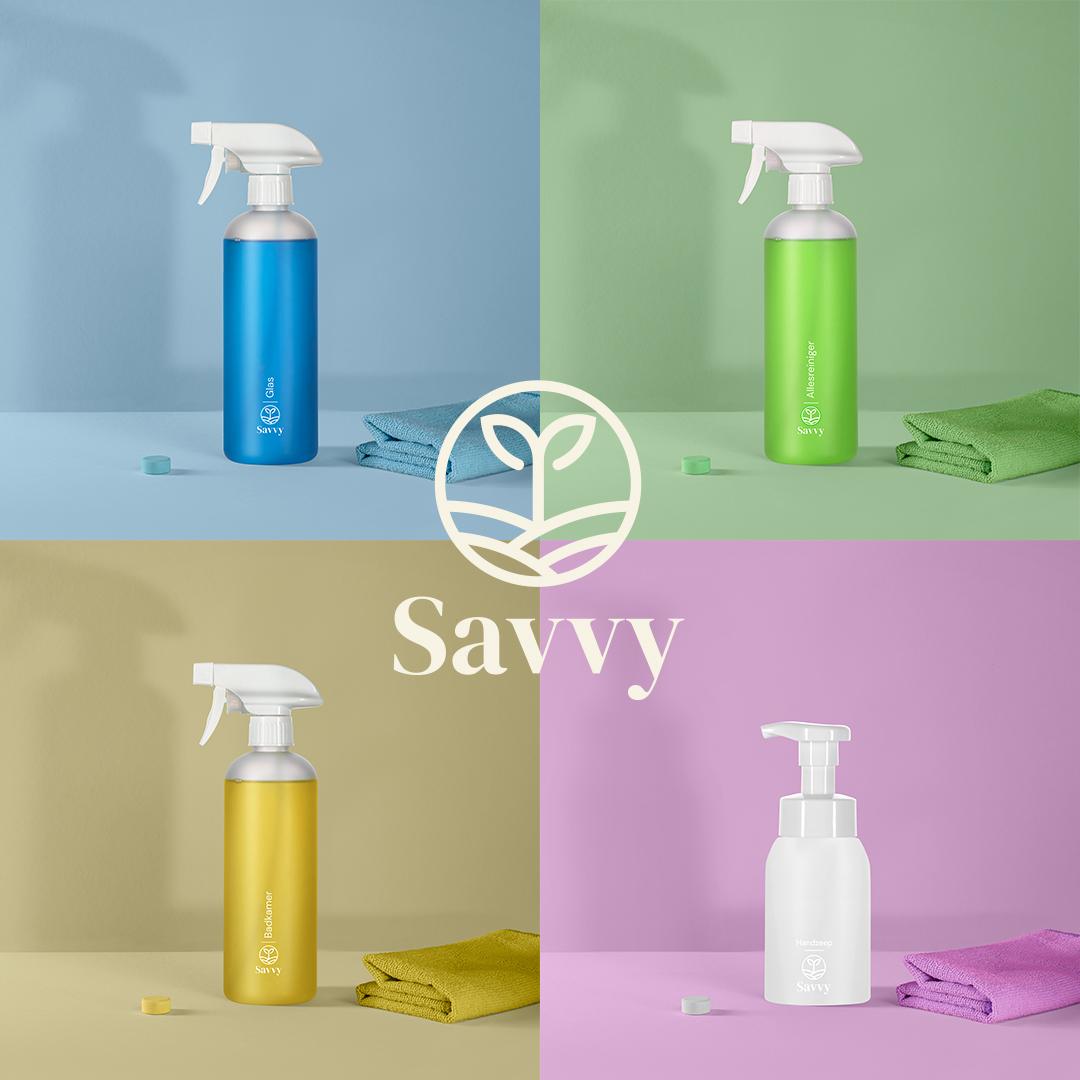 Savvy - schoonmaakmiddelen met herbruikbare verpakking